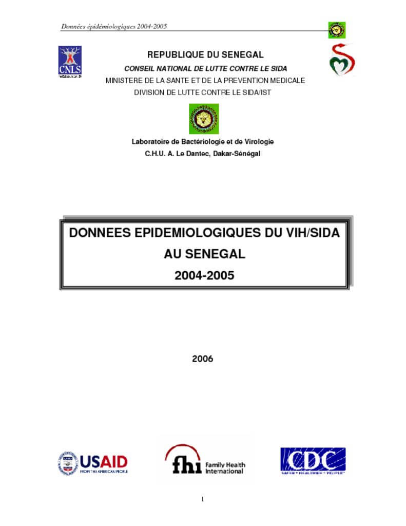 thumbnail of Bulletin Epidemiologique N°12 2004-2005