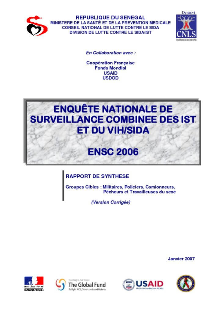 thumbnail of Rapport DE SYNTHESE ENSC 2006
